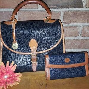 Vintage Dooney &Bourke satchel and wallet